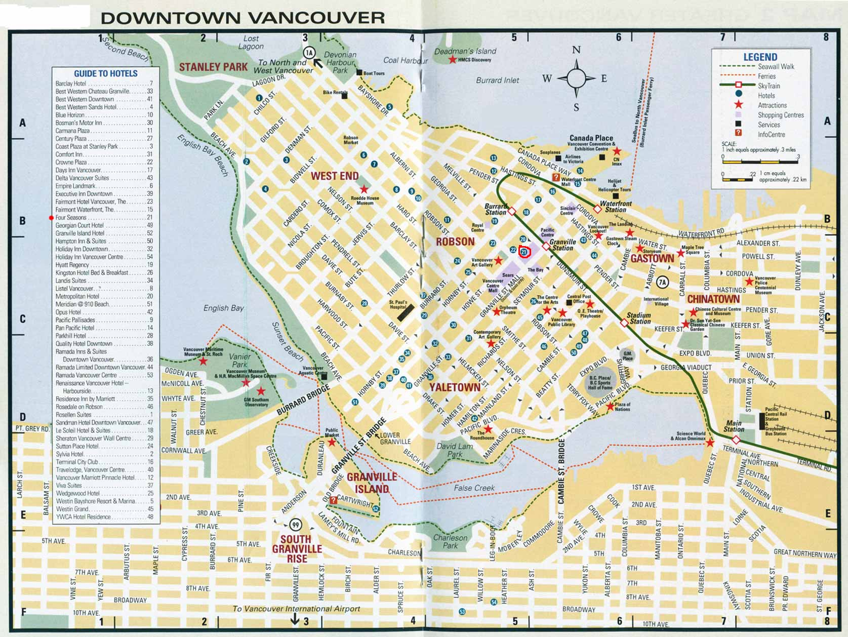 16 February 2010 – Vancouver Tourist Map