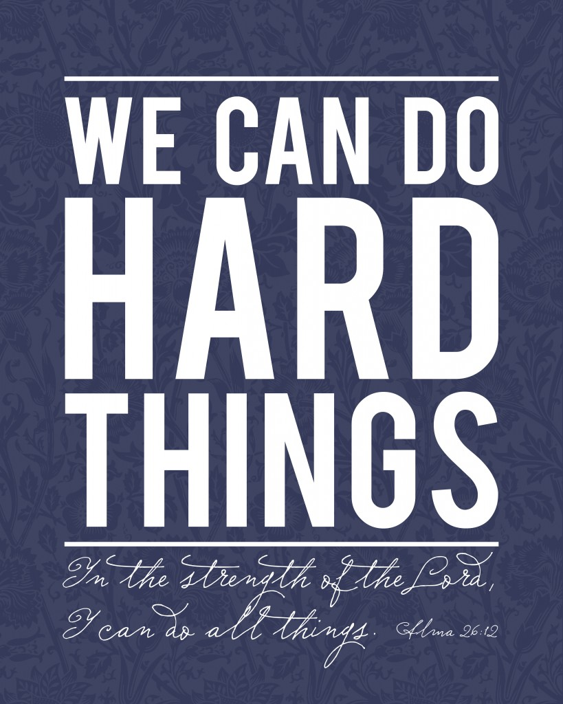 16x20 we can do hard things alma navy